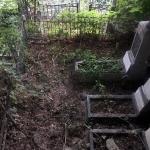Уборка могилы ДО