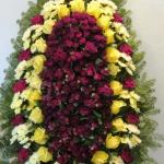 Венок из живых цветов_66